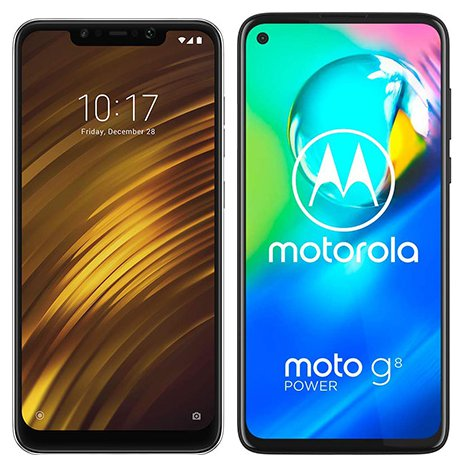 Smartphone Comparison: Xiaomi pocophone f1 vs Motorola moto g8 power