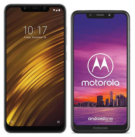 Smartphone Comparison: Xiaomi pocophone f1 vs Motorola one