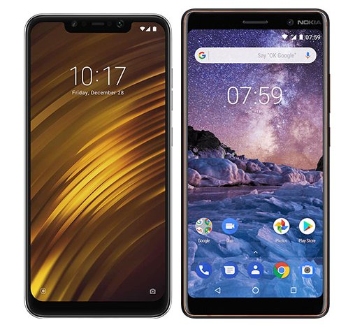 Smartphone Comparison: Xiaomi pocophone f1 vs Nokia 7 plus