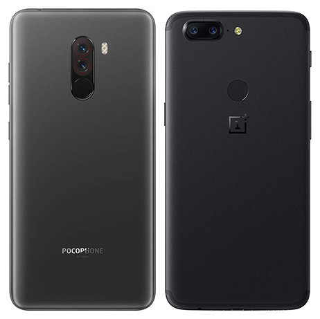 Pocophone F1 vs One Plus 5T. View of main cameras