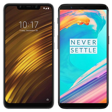 Smartphone Comparison: Xiaomi pocophone f1 vs One plus 5t