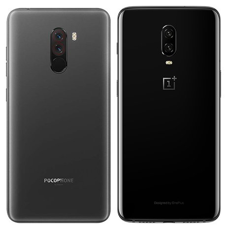 Pocophone F1 vs One Plus 6T. View of main cameras
