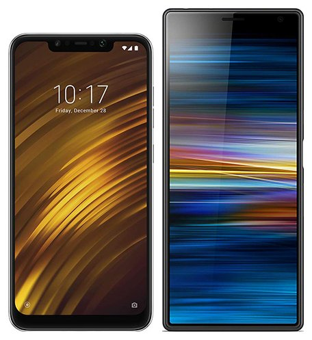 Smartphone Comparison: Xiaomi pocophone f1 vs Sony xperia 10 plus